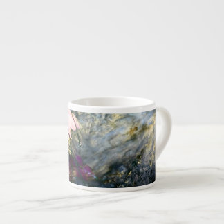 Abstract Flower in Water Espresso Cup