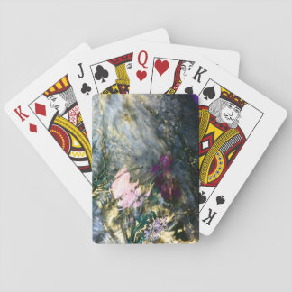 Abstract Flower in Water Playing Cards