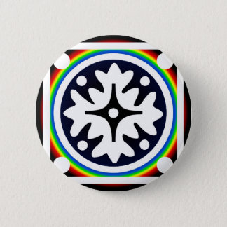 Abstract Flower Leaves Design 6 Cm Round Badge