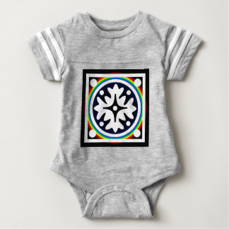 Abstract Flower Leaves Design Baby Bodysuit