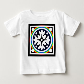 Abstract Flower Leaves Design Baby T-Shirt