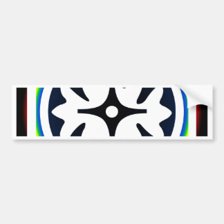 Abstract Flower Leaves Design Bumper Sticker