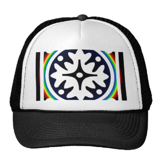 Abstract Flower Leaves Design Cap