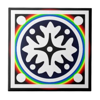 Abstract Flower Leaves Design Ceramic Tile