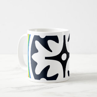 Abstract Flower Leaves Design Coffee Mug