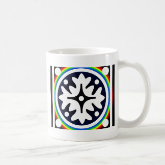 Abstract Flower Leaves Design Coffee Mug