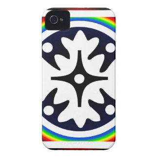 Abstract Flower Leaves Design iPhone 4 Case-Mate Cases