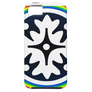 Abstract Flower Leaves Design iPhone 5 Cases