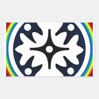 Abstract Flower Leaves Design Rectangular Sticker