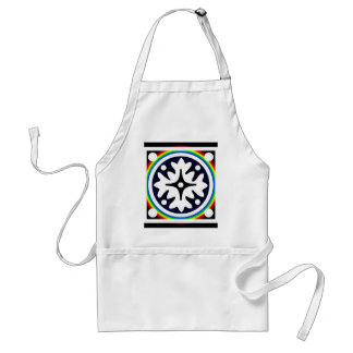 Abstract Flower Leaves Design Standard Apron