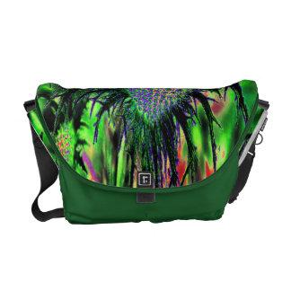 Abstract Flower Messenger Bag