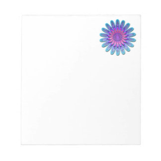 Abstract flower. notepad