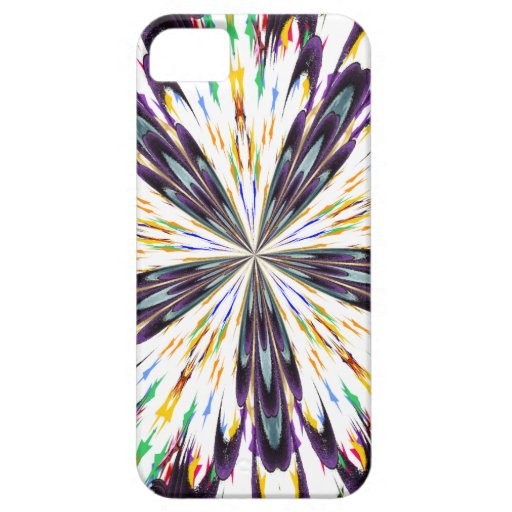 abstract flower paint iphone 5 case