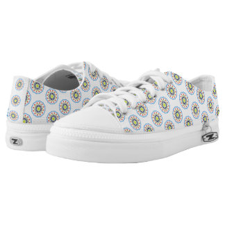 Abstract flower pattern low tops