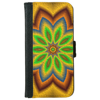 Abstract flower pattern iPhone 6 wallet case