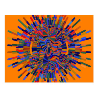 Abstract Flower Postcard