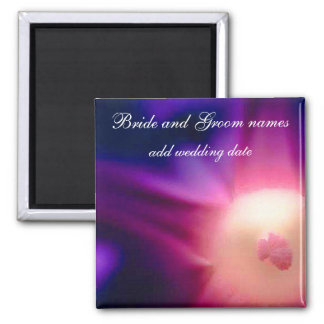 Abstract Flower Square Magnet
