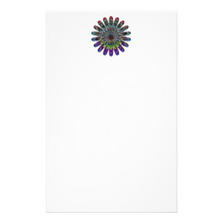 Abstract flower. stationery