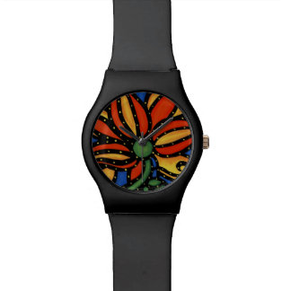 Abstract Flower Watch