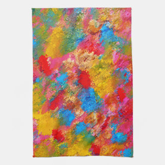 Abstract Flowering Meadow Painting Towels