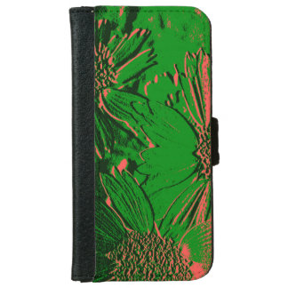 Abstract Flowers 1 Cute Floral iPhone 6 Wallet Case