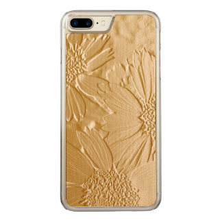Abstract Flowers 4 Cute Floral Carved iPhone 8 Plus/7 Plus Case