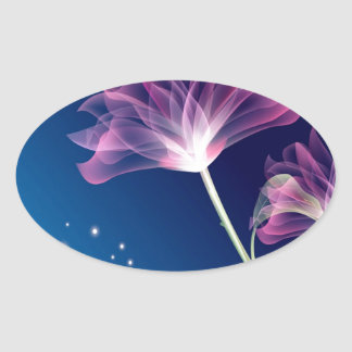 Abstract Flowers Blue Romace Sticker