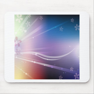Abstract Flowers Blue Shine Mousepad