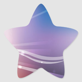 Abstract Flowers Blue Shine Star Sticker