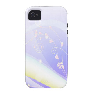 Abstract Flowers Blue Wave iPhone 4 Covers