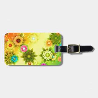 abstract Flowers Colorful Luggage Tag