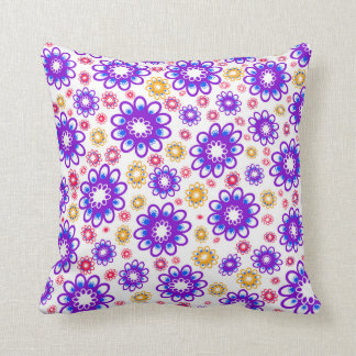 Abstract Flowers Cushion