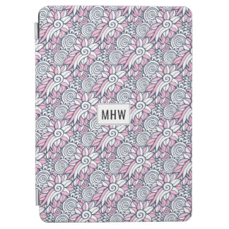 Abstract Flowers custom monogram device covers iPad Air Cover
