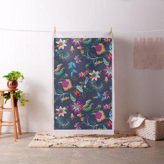 Abstract flowers fabric