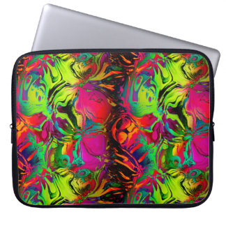 ABSTRACT FLOWERS FRUITS RED GREEN LAPTOP SLEEVE