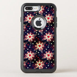 Abstract Flowers & Hearts Pattern OtterBox Commuter iPhone 8 Plus/7 Plus Case