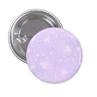 Abstract Flowers in Lilac and Pink Button