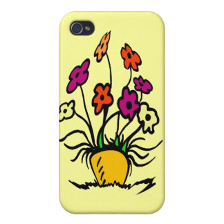 Abstract Flowers iPhone 4 Covers
