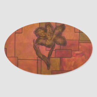 abstract flowers.jpg oval sticker