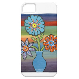 Abstract Flowers on Colorful Background iPhone 5 Covers