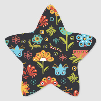 Abstract flowers pattern sticker