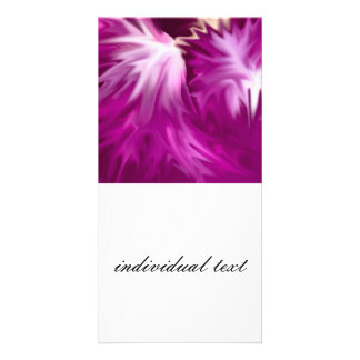 abstract flowers pink picture card