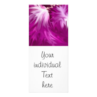 abstract flowers pink rack card template