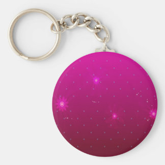 Abstract Flowers Purple Relax Keychains