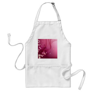 Abstract Flowers Purple Shadow Aprons