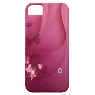 Abstract Flowers Purple Shadow iPhone 5/5S Cases