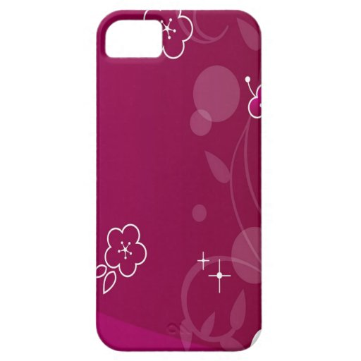 Abstract Flowers Purple Simple Abstract Case For iPhone 5/5S