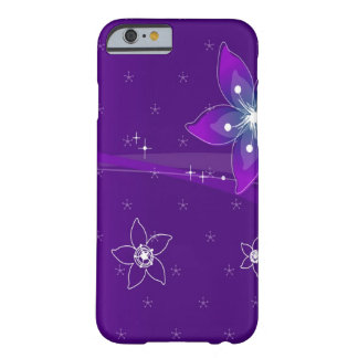 Abstract Flowers Purple Various Barely There iPhone 6 Case