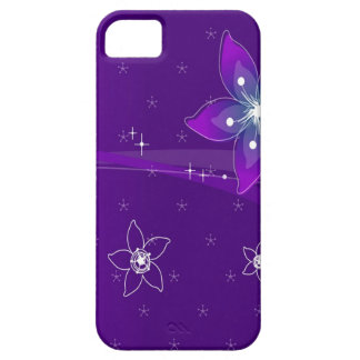 Abstract Flowers Purple Various Case For The iPhone 5