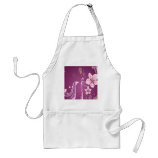 Abstract Flowers Purple Wave Aprons